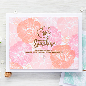 Simon Says Stamp | Monochromatic Stamped Floral Patterns. Video + Masterpiece Box Blog Hop + Giveaway (now closed)