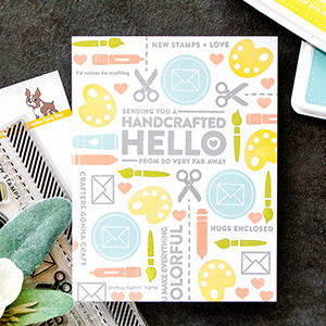 Simon Says Stamp | Crafty Friend – Handcrafted Hello Card. Pattern Stamping Basics. Video