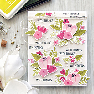 WPlus9 | Dimensional Floral Pattern with Southern Florals – With Thanks Card