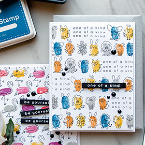 Simon Says Stamp   Faux Fingerprint Stamping – Quick & Funny Stamped Patterns. Blog Hop + Giveaway