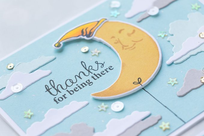 Hero Arts | Color Layering Moon Greeting Cards 3 Ways. Video tutorial by Yana Smakula. Handmade Moon Cards