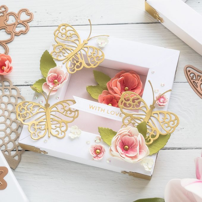 How to Assemble Shadowboxes & Calculate Paper Size using Spellbinders Shadowbox Dies. Video