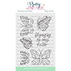 Pretty Pink Posh Beautiful Butterflies Clear Stamps