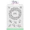 Pretty Pink Posh Spring Wreath Clear Stamps
