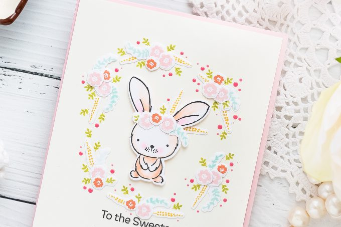 My Favorite Things | Using Tiny Stamps for Big Impact. Video tutorial. To the Sweetest Somebunny I know Handmade Card by Yana Smakula