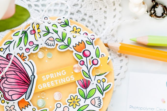 Pretty Pink Posh | Shaped Spring Wreath Card. Video tutorial by Yana Smakula