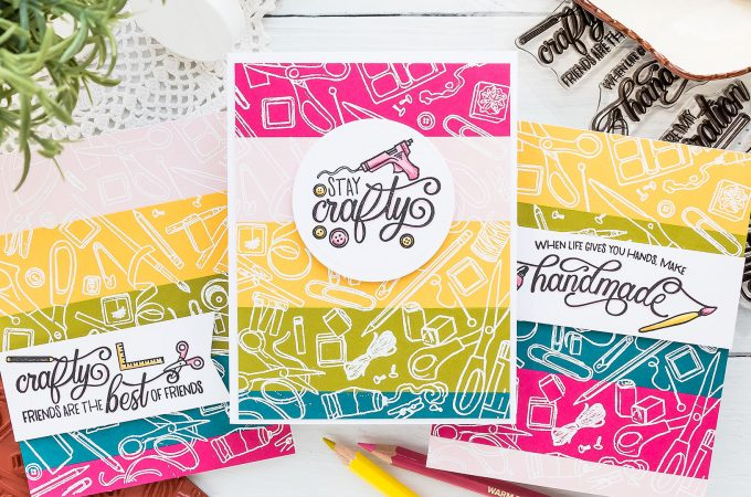 Cards for Crafty Friends! | Hero Arts My Monthly Hero May 2019 | Video tutorial by Yana Smakula #craftyfriends #cardmaking #stamping