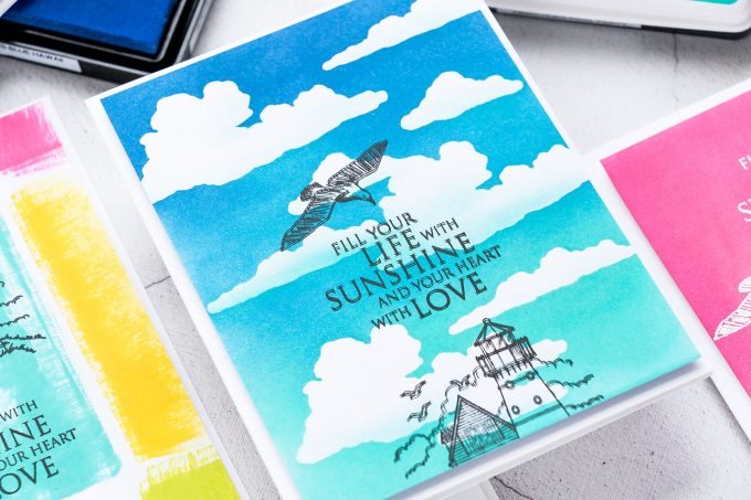 How to make Colorful Backgrounds for handmade cards in Minutes with Hero Arts NEW Hero Hues Reactive Ink | Watch the video tutorial for how-to.