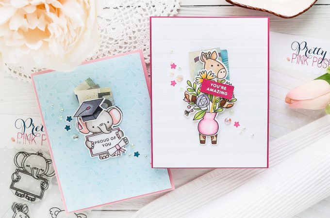 How to Money Holder Cards without Specialty Supplies | Pretty Pink Posh | Video tutorial by Yana Smakula