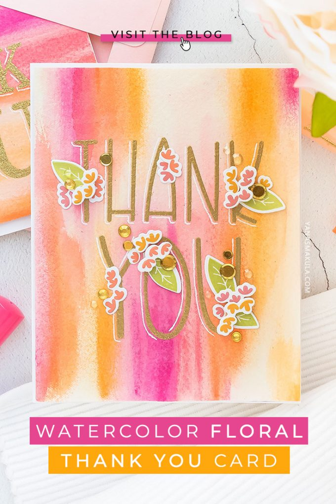 Simon Says Stamp   Abstract Watercolor Backgrounds with ColorSticks - Thank You Card. How to use ColorSticks to create colorful watercolor background for handmade cards
