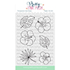 Pretty Pink Posh Hibiscus Flowers Clear Stamps