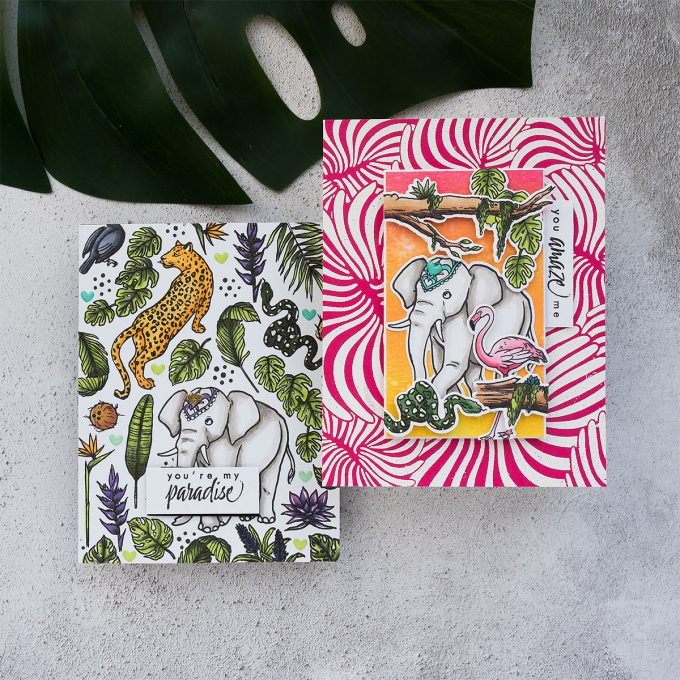 Jungle Cards with Hero Arts My Monthly Hero June 2019 Kit   Video