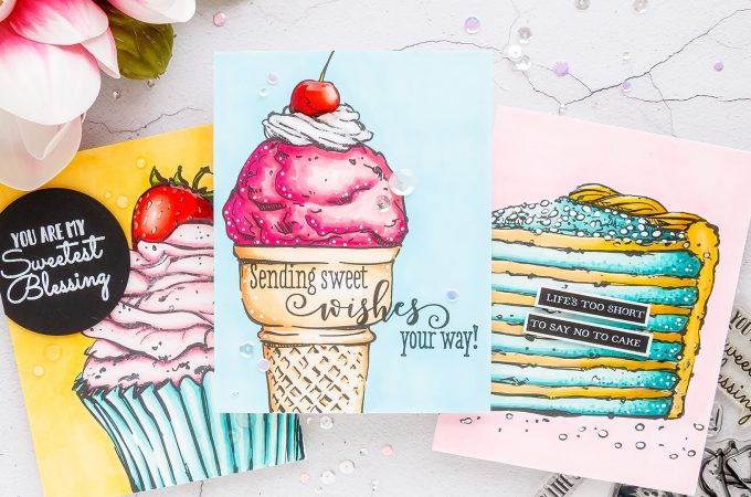 Colorado Craft Company | Cardmaking & Coloring in Pop Art Style. Handmade card ideas by Yana Smakula. Video + Giveaways