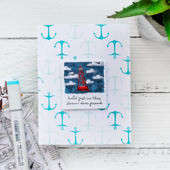 Simon Says Stamp | More Nautical Encouragement Cards - Hold fast in this storm dear friend