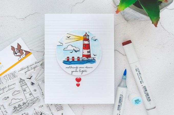 Simon Says Stamp | Rest & Refresh Release - Nothing Can Dim Your Light Handmade Encouragement Card
