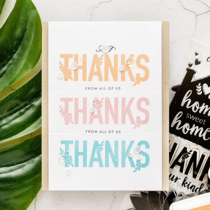 Simon Says Stamp | Thank You Card Made Easy featuring Home Sweet Home Stamp Set and Clean & Simple Stamping. Handmade card by Yana Smakula #cardmaking #simonsaysstamp #thankyoucard