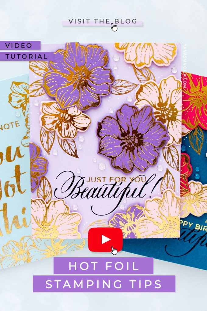 """Love hot foil stamping? Check out these must-know 7 tips and tricks that will help you be better then foiling with your Spellbinders Glimmer (or other) hot foil plates. Watch the video tutorial for details. #glimmerhotfoilsystem #hotfoil #cardmaking"""
