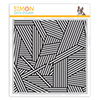 Simon Says Cling Stamp Stripe Jumble Background