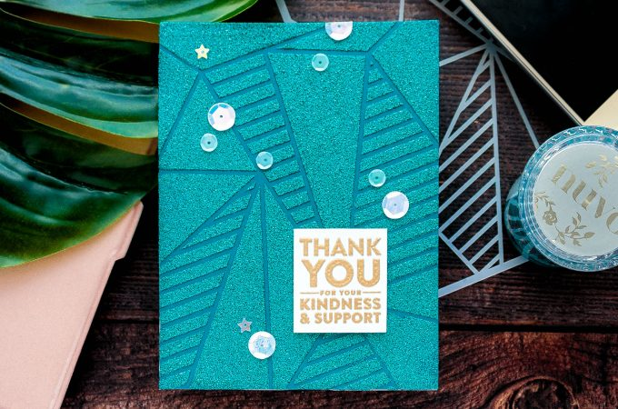 Simon Says Stamp | Kindness & Support Card with Glimmer Paste