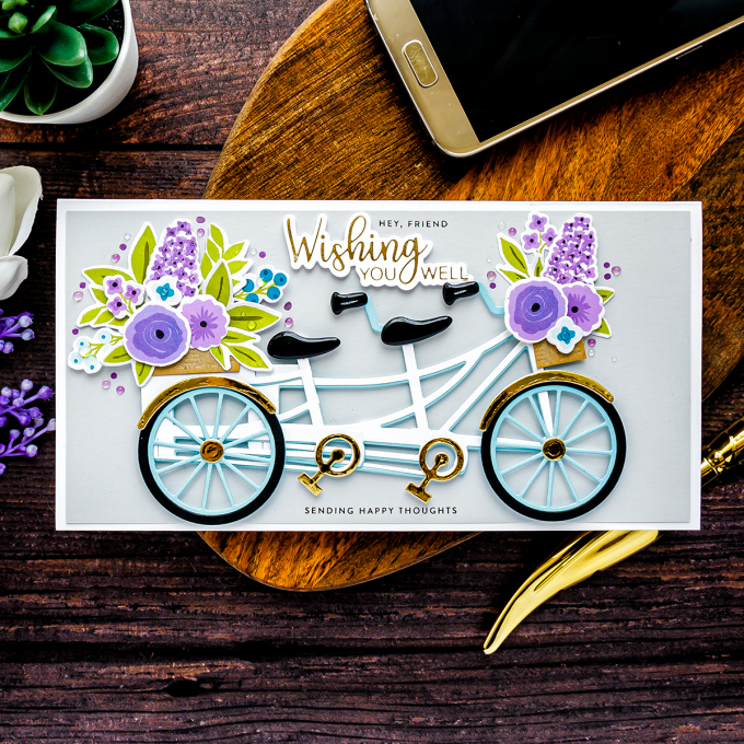 Cardmaking with Spellbinders July Large Die Of the Month - Bicycle Cards | Video + Giveaways