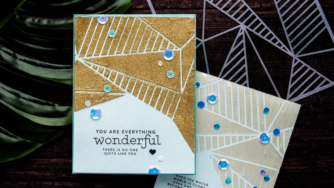 Simon Says Stamp | Faceted Stripes Stencil Cards. Video