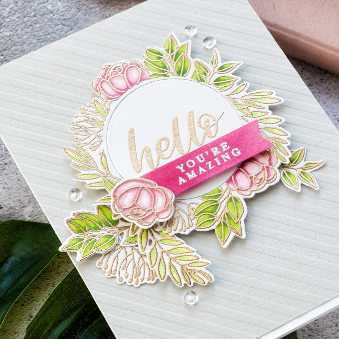 Simon Says Stamp | Hello, You're Amazing - handmade card by Yana Smakula