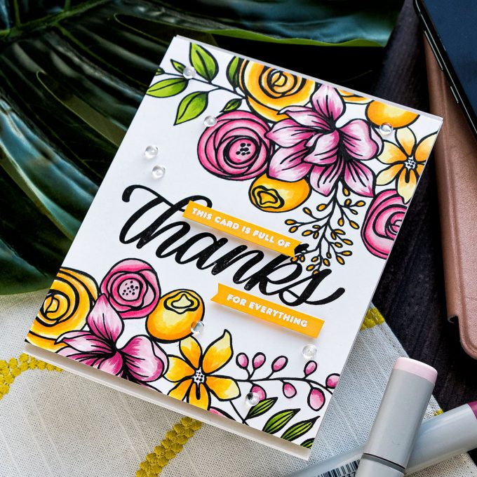 Simon Says Stamp | This Card Is Full of Thanks - Handmade Card by Yana Smakula