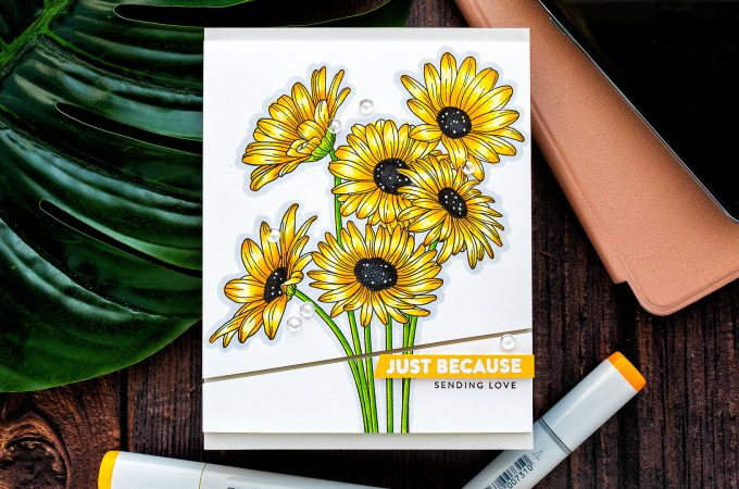 Simon Says Stamp | Yellow Daisies - Just Because Card by Yana Smakula