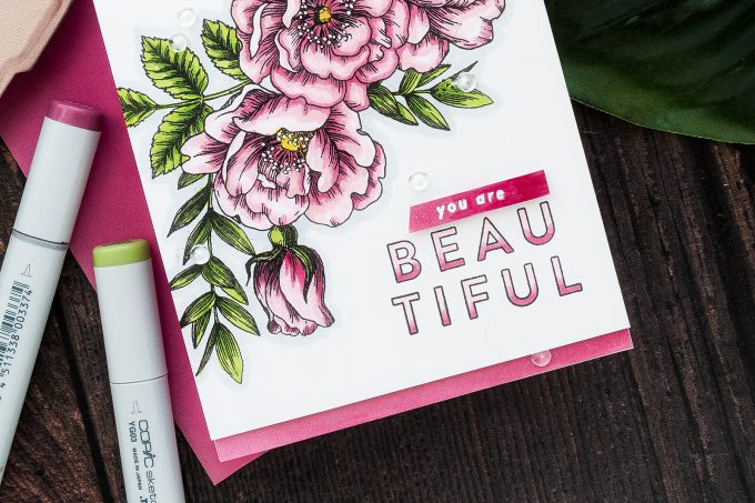 Simon Says Stamp | You Are Beautiful Handmade Card by Yana Smakula