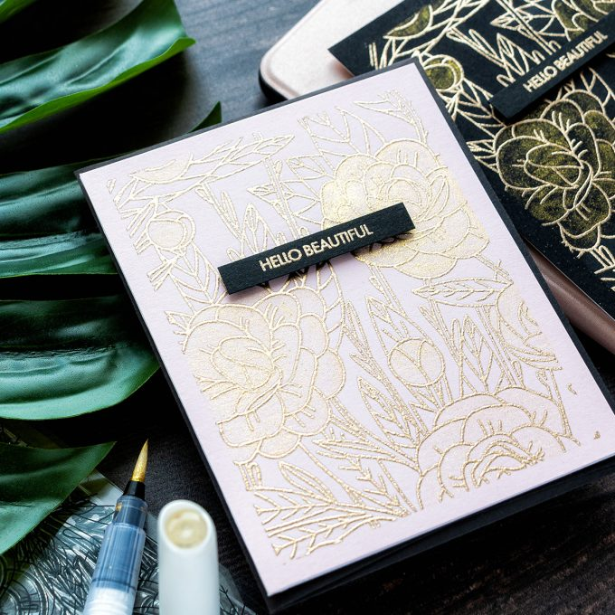 Tonic Studios | Modern Floral Cards. Video (Blog Hop + Giveaway)
