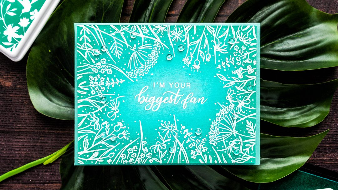 Pinkfresh Studios & Hero Arts | One Layer Floral Card - I'm Your Biggest Fan