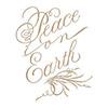 Spellbinders Copperplate Script Peace on Earth Glimmer Hot Foil Plates