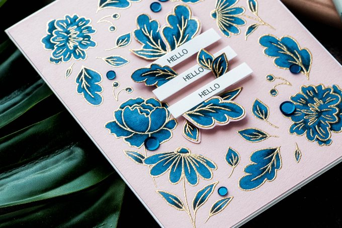 STAMPtember - PinkFresh Studio | It Looks Like My Grandma's Embroidery