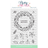 Pretty Pink Posh Winter Wreath Clear Stamps