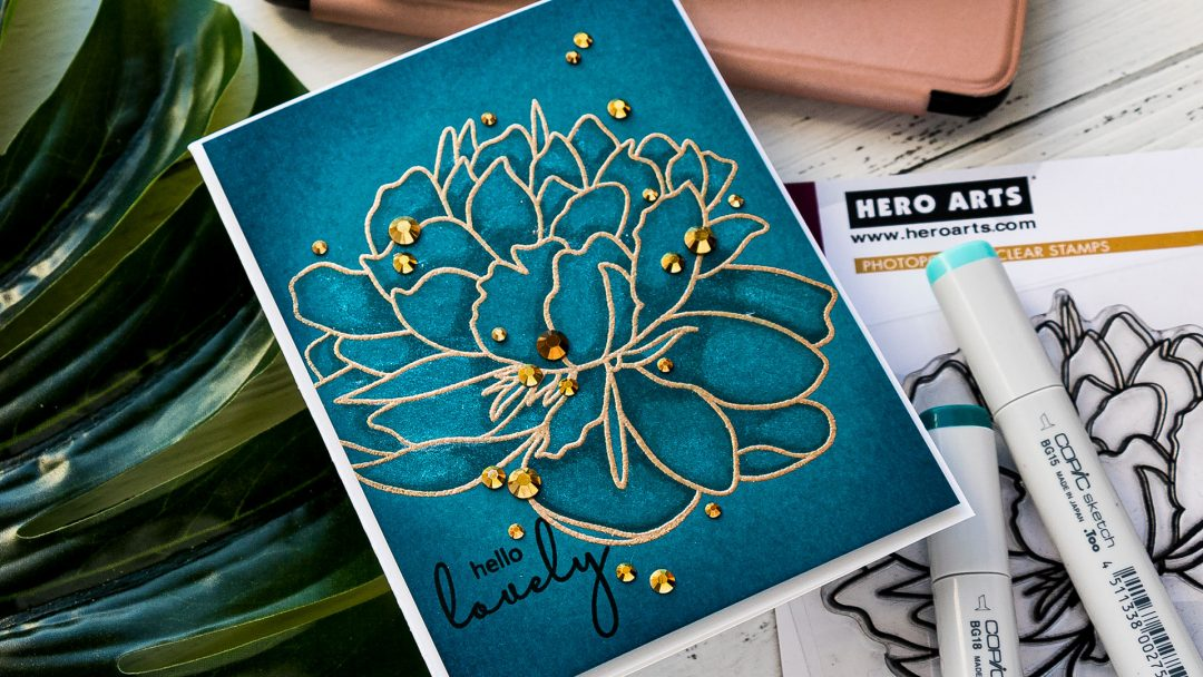 Hero Arts & Altenew | One Layer Floral Card. Blog Hop + Giveaway