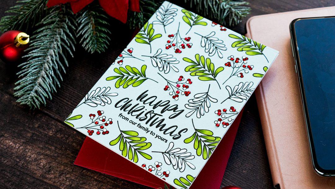 Simon Says Stamp   Happy Christmas or Merry Christmas?   Handmade card by Yana Smakula featuring INSIDE CHRISTMAS GREETINGS sss202028 #simonsaysstamp #stamping #christmascard