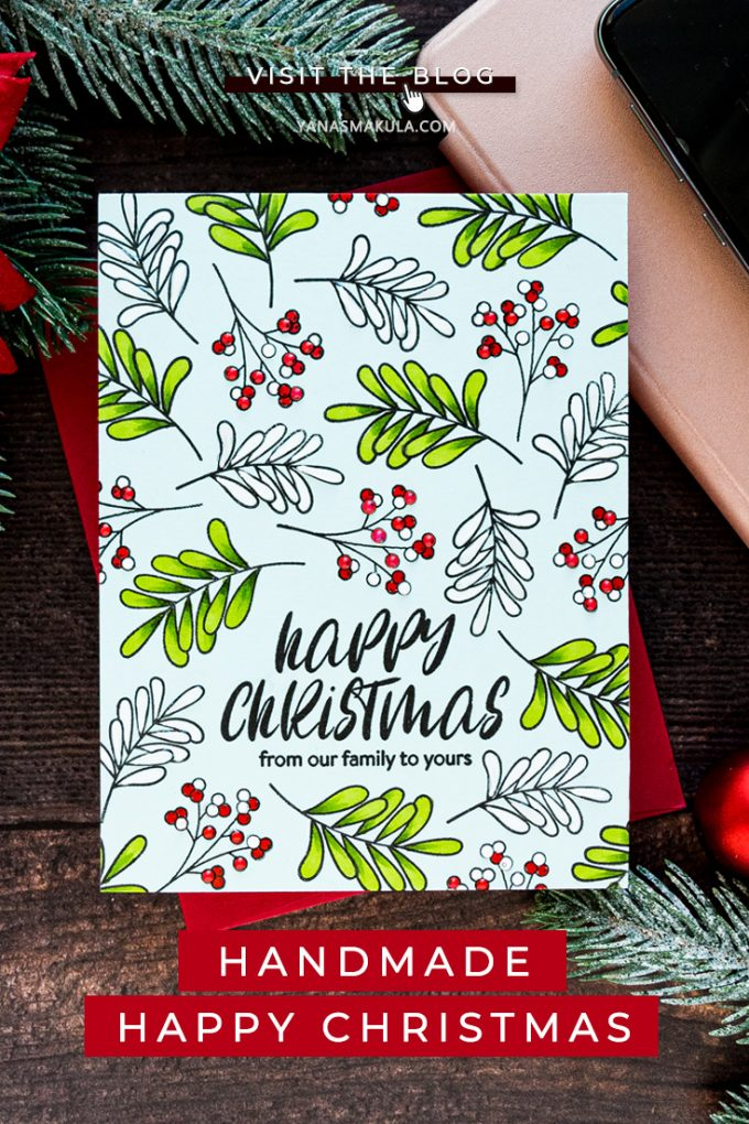 Simon Says Stamp | Happy Christmas or Merry Christmas? | Handmade card by Yana Smakula featuring INSIDE CHRISTMAS GREETINGS sss202028 #simonsaysstamp #stamping #christmascard