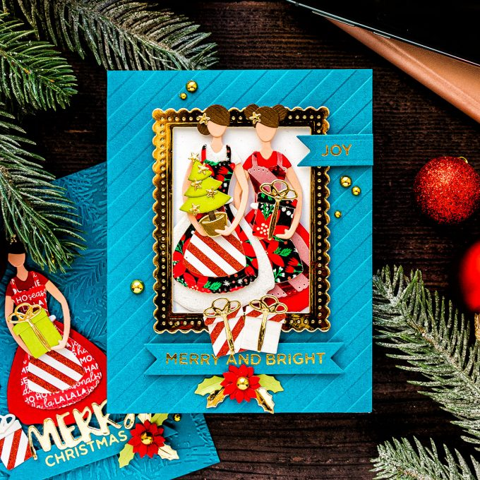 Spellbinders   Die Cut Christmas Cards with October Small Die of the Month - Home For The Holidays. Video tutorial by Yana Smakula #cardmaking #SpellbindersClubKits #Christmascard
