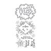 Hero Arts DC272 Decorative Poinsettia Frame Stamp & Cut