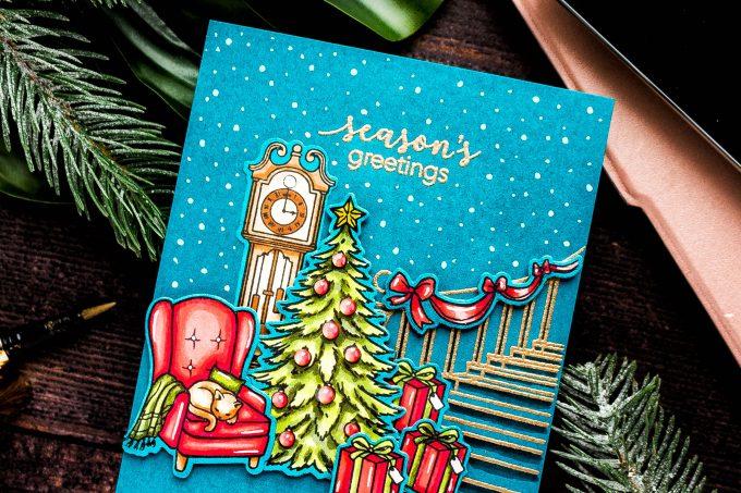 Hero Arts | November My Monthly Hero Kit - Christmas Card. Video. Blog Hop + Giveaway