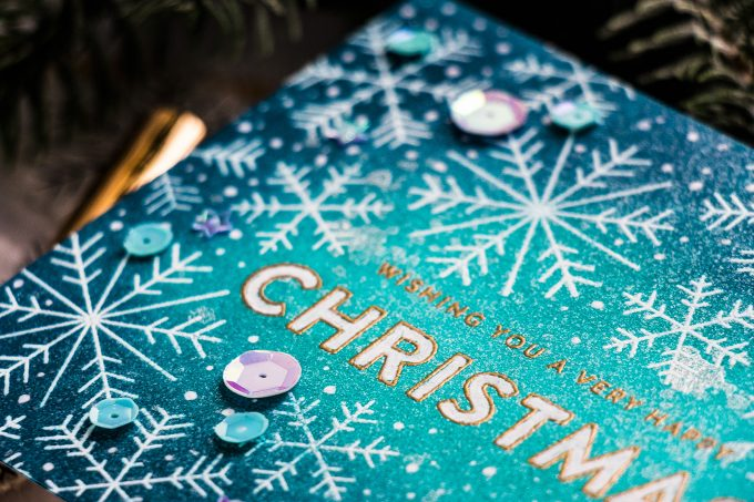 Simon Says Stamp   Wishing You A Happy Christmas Handmade Card by Yana Smakula #simonsaysstamp #cardmaking #christmascard