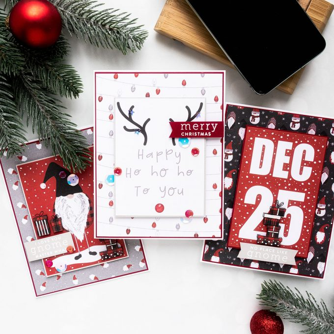 Simon Says Stamp | December 2019 Card Kit - 3 Card Ideas by Yana Smakula #sssck #cardmaking #christmascard