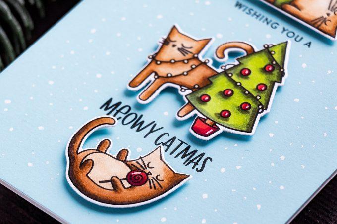 Simon Says Stamp | Meowy Catmas Christmas Card by Yana Smakula featuring MEOWY CATMAS sss102026 #simonsaysstamp #catcard #christmascard