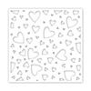Simon Says Stamp Stencils Tumbling Hearts