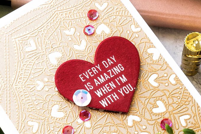Simon Says Stamp | Valentine's Day Card - Every Day is Amazing When I'm With You. Handmade card by Yana Smakula #cardmaking #simonsaysstamp #valentinesdaycard