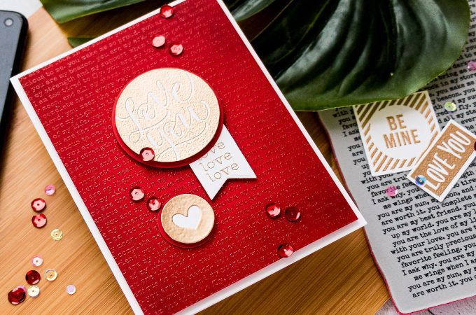 Simon Says Stamp | Love You Valentine's Day Card by Yana Smakula featuring You Are Background SSS102080 and Love and Valentines Word Mix #simonsaysstamp #cardmaking #valentinesdaycard
