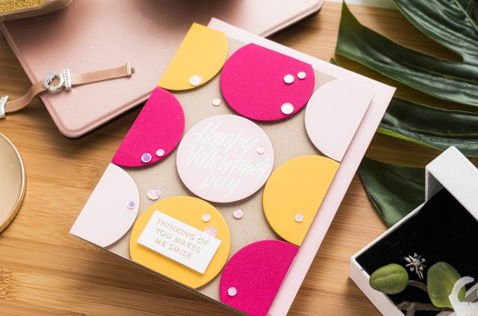 Simon Says Stamp | Happy Valentine's Day Card - Colorful Circles card by Yana Smakula featuring Love and Valentines Word Mix #simonsaysstamp #cardmaking #valentinesdaycard