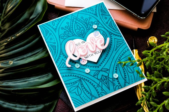 Simon Says Stamp | Valentine's Day Card - So In Love With You. Handmade card by Yana Smakula #valentinesdaycard #simonsaysstamp #cardmaking