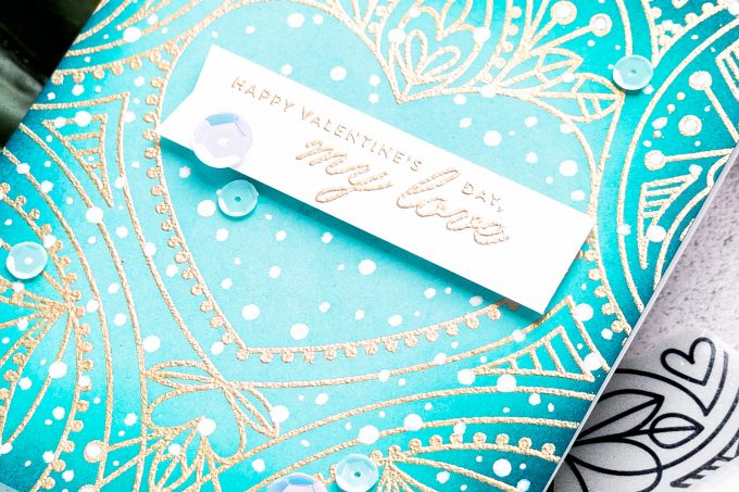 Simon Says Stamp | Wintry Valentine's Day Card. Video tutorial by Yana Smakula #simonsaysstamp #valentinesdaycard #cardmaking