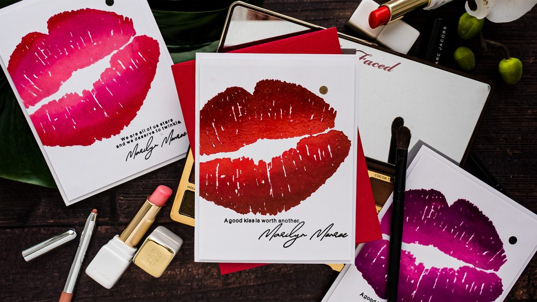 Colorado Craft Company | Cardmaking with Big & Bold Stamps. Huge Lips card by Yana Smakula #cardmaking #valentinesdaycard #coloradocraftcompany